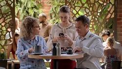 Jane Harris, Chloe Brennan, Paul Robinson in Neighbours Episode 7827