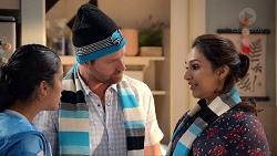 Yashvi Rebecchi, Shane Rebecchi, Dipi Rebecchi in Neighbours Episode 7828