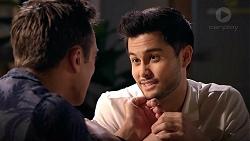 Aaron Brennan, David Tanaka in Neighbours Episode 7830