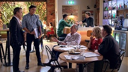 Paul Robinson, Leo Tanaka, Karl Kennedy, Jane Harris, Darren Purchese in Neighbours Episode 7831
