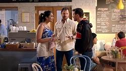 Dipi Rebecchi, Shane Rebecchi, Jake Hendra in Neighbours Episode 7831