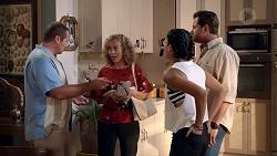 Toadie Rebecchi, Jane Harris, Yashvi Rebecchi, Shane Rebecchi in Neighbours Episode 7832