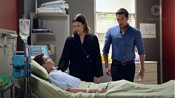 Jimmy Williams, Amy Williams, Liam Barnett in Neighbours Episode 7832