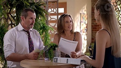 Toadie Rebecchi, Sonya Mitchell, Chloe Brennan in Neighbours Episode 7834