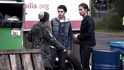 Piper Willis, Ben Kirk, Tyler Brennan in Neighbours Episode 7834