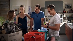 Piper Willis, Chloe Brennan, Mark Brennan, Aaron Brennan in Neighbours Episode 7834