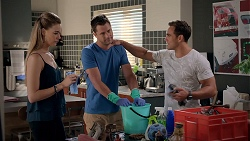Chloe Brennan, Mark Brennan, Aaron Brennan in Neighbours Episode 7834