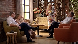 Toadie Rebecchi, Sonya Mitchell, Sheila Canning, Karl Kennedy in Neighbours Episode 7834