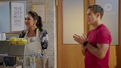 Dipi Rebecchi, Aaron Brennan in Neighbours Episode 7836