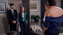 Brandon Danker, Fay Brennan, Chloe Brennan, Leo Tanaka in Neighbours Episode 7838