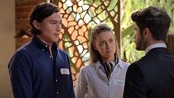 Leo Tanaka, Chloe Brennan, Brandon Danker in Neighbours Episode 7838