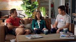 Aaron Brennan, Fay Brennan, Mark Brennan in Neighbours Episode 7838