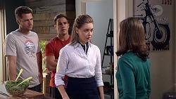 Mark Brennan, Aaron Brennan, Chloe Brennan, Fay Brennan in Neighbours Episode 7838
