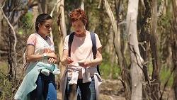 Yashvi Rebecchi, Susan Kennedy in Neighbours Episode 7839