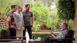 Aaron Brennan, Toadie Rebecchi, Shane Rebecchi, Karl Kennedy in Neighbours Episode 7840