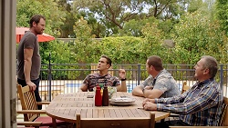 Shane Rebecchi, Aaron Brennan, Toadie Rebecchi, Karl Kennedy in Neighbours Episode 7840