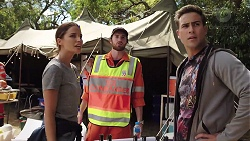Elly Conway, Brett Davis, Aaron Brennan in Neighbours Episode 7840