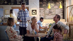 Sonya Mitchell, Mark Brennan, Steph Scully, Toadie Rebecchi, Nell Rebecchi in Neighbours Episode 7841