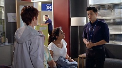 Susan Kennedy, Dipi Rebecchi, David Tanaka in Neighbours Episode 7842