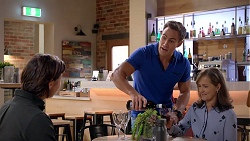 Leo Tanaka, Aaron Brennan, Fay Brennan in Neighbours Episode 7843