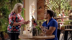 Sheila Canning, Aaron Brennan in Neighbours Episode 7843