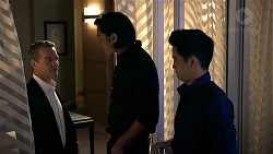 Paul Robinson, Leo Tanaka, David Tanaka in Neighbours Episode 7844
