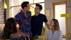 Elly Conway, Aaron Brennan, David Tanaka, Amy Williams in Neighbours Episode 7844