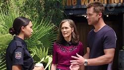 Mishti Sharma, Fay Brennan, Mark Brennan in Neighbours Episode 7844