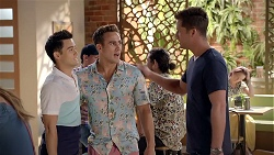 David Tanaka, Aaron Brennan, Mark Brennan in Neighbours Episode 7845