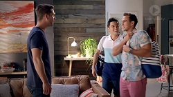 Mark Brennan, David Tanaka, Aaron Brennan in Neighbours Episode 7845