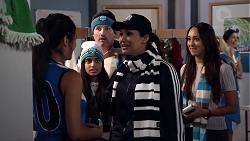 Yashvi Rebecchi, Kirsha Rebecchi, Toadie Rebecchi, Dipi Rebecchi, Mishti Sharma in Neighbours Episode 7845