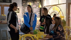 Dipi Rebecchi, Yashvi Rebecchi, Piper Willis, Mishti Sharma, Terese Willis in Neighbours Episode 7846