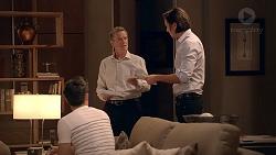 David Tanaka, Paul Robinson, Leo Tanaka in Neighbours Episode 7848