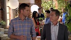 Mark Brennan, Mishti Sharma, David Tanaka, Paul Robinson in Neighbours Episode 7848