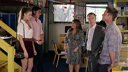 Chloe Brennan, Leo Tanaka, Terese Willis, Paul Robinson, Mark Brennan in Neighbours Episode 7849