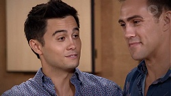 David Tanaka, Aaron Brennan in Neighbours Episode 7849