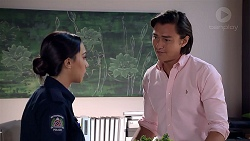 Mishti Sharma, Leo Tanaka in Neighbours Episode 7849