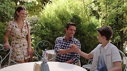Amy Williams, Liam Barnett, Jimmy Williams in Neighbours Episode 7849