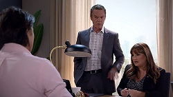 Leo Tanaka, Paul Robinson, Terese Willis in Neighbours Episode 7849