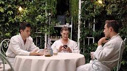 David Tanaka, Amy Williams, Aaron Brennan in Neighbours Episode 7851
