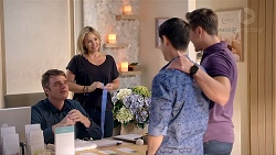 Gary Canning, Steph Scully, David Tanaka, Aaron Brennan in Neighbours Episode 7851