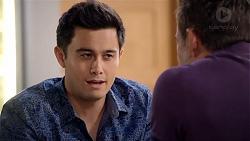 David Tanaka, Aaron Brennan in Neighbours Episode 7851