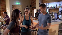 Bea Nilsson, Elly Conway, Mark Brennan in Neighbours Episode 7852