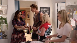 Dipi Rebecchi, Cassius Grady, Sheila Canning, Xanthe Canning in Neighbours Episode 7852