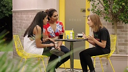Yashvi Rebecchi, Dipi Rebecchi, Piper Willis in Neighbours Episode 7854