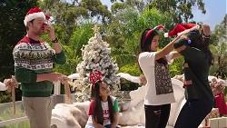 Shane Rebecchi, Kirsha Rebecchi, Yashvi Rebecchi, Dipi Rebecchi in Neighbours Episode 7855