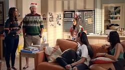 Dipi Rebecchi, Shane Rebecchi, Yashvi Rebecchi, Kirsha Rebecchi, Mishti Sharma in Neighbours Episode 7855