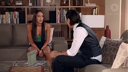 Mishti Sharma, Leo Tanaka in Neighbours Episode 7855