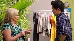 Sheila Canning, David Tanaka in Neighbours Episode 7856