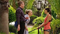 Gary Canning, Xanthe Canning, Mishti Sharma in Neighbours Episode 7858